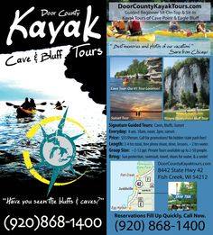 Door County Kayak Tours, llc. Rack Card
