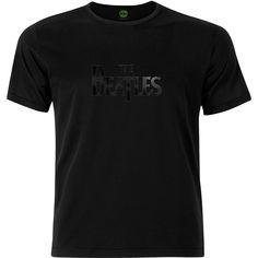 The Beatles Mens Fashion Tee: Drop T Logo Wholesale Ref:BTBLKTS03MB