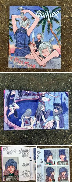 Oh Say Can You Zine | Frontier  We're pulling out our copy of Hellen Jo's Frontier zine because it is jammed packed with some of our favorite Jo illustrations like the girls skating a pool and hanging out in a cemetery. We chatted with her in our Sketchy Behaviors | Hellen Jo Interview and learned a lot about her passion for comics, zines, and Taiyo Matsumoto.