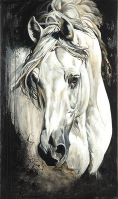 Beautiful Horse Art by Elise Genest Horse Drawings, Animal Drawings, Art Drawings, Drawing Art, Painted Horses, Horse Artwork, Horse Paintings, Pastel Paintings, Arte Equina
