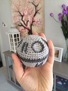 Crochet amigurumi free pattern of Plushie Death Star plush