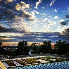 Sunset from Tisch Library rooftop at Tufts