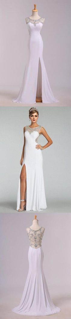 2020 New Arrival Prom Dresses Scoop Neckline Sheath/Column Floor Length Fast P8ZRMDMZ, This dress could be custom made, there are no extra cost to do custom size and color Cheap Evening Dresses, Cheap Prom Dresses, Formal Dresses, Split Prom Dresses, Mermaid Prom Dresses, Sweetheart Prom Dress, Trumpet Skirt, Special Occasion Dresses, Neckline