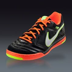 pretty nice 3cb54 78d77 Nike Nike5 Gato Leather - Black Total Crimson Sunset Indoor Soccer Shoes  Soccer Gear