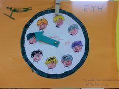 το ρολοι των συναισθηματων θ.ε. συναισθηματα νηπιαγωγειο γεργερης ηρακλειου Preschool, Music Instruments, Clock, Crafting, Watch, Kid Garden, Musical Instruments, Clocks, Kindergarten