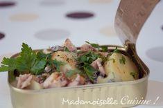 Salade Pomme de Terre Sardine - Recette de Cuisine ~ Mademoiselle Cuisine : recettes, astuces...