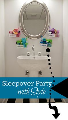These sleepover caddies are such a fun idea!