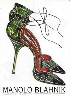 Illustration - Manolo Blahnik