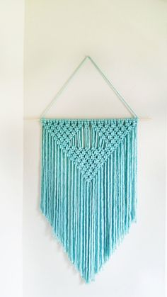 Handmade Macrame Wall Hanging by CreativeChicShop on Etsy