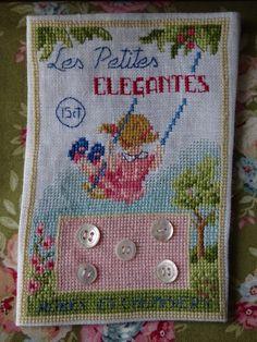 Des Histoires a broder  - Planche a boutons Les petites Elegantes -chezmariefil.canalblog.com