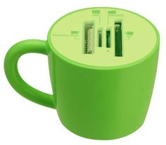 The Coffee Cup Card Reader is Designed for Kitchen Computers