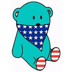mint bear & american bandana