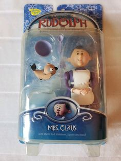 Memory Lane Rudolph The Red Nosed Reindeer Mrs Claus Figure & Accessories NEW Collectible Toys, Mrs Claus, Rudolph The Red, Red Nosed Reindeer, Concave, Bass, Plastic, Memories, Christmas