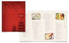 Asian Restaurant Menu Template Design by StockLayouts