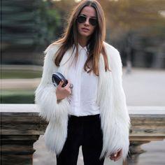 Women's Mid-Length Faux Fur Coat