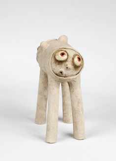 Two Faces Funny Monster. Unique ceramic sculpture. Statuette, Clay Figurine, Home Decor, Pottery, Hand Made Gift (027) by AdamBartCeramics on Etsy