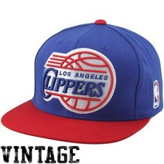 72e314b17ab Los Angeles Clippers Mitchell  amp  Ness XL Logo 2 Tone Snapback Blue and Red  Hat