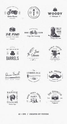 Vintage Logo Kit Vol.5 - download freebie by PixelBuddha