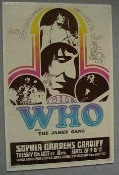 The Who and The James Gang Concert Poster