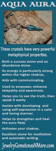 Aqua Aura quartz crystals have very powerful metaphysical properties.