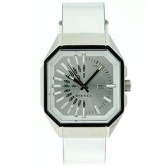 Diesel Women's DZ5152 Octagonal Leather Strap Quartz Watch --- http://www.pinterest.com.luvit.in/3i7