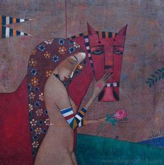 """Petar Mitchev, """"Dreaming with a Horse"""", oil on canvas"""