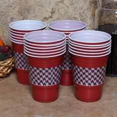 Spice up your Solo Cup by using either tape or scrapbook paper #TheGroveGal