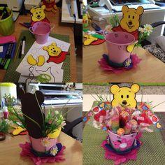 Idea para Dulcero o Centro de mesa de fiestas temática de Winnie Pooh