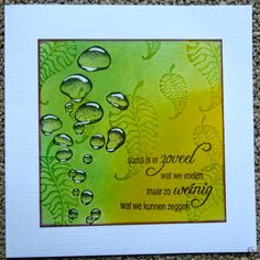 Eveliens blogpagina: using Designs by Ryn: Rising Bubbles and Three Leaves Set (stamps)