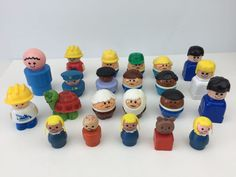 Lot Of Little People And Little Tikes Figures Toys Some Vintage Wood #FisherPriceLittleTikes