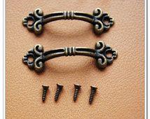 10pcs 47mm Anti brass Vintage drawer pull handle