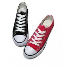 Chaussures basses type converse pour homme femme multiples coloris