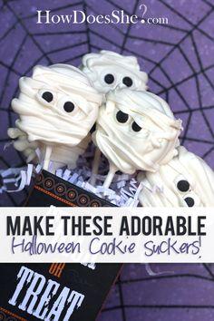 Halloween Cookie Suckers