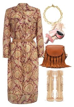 """""""Zimmermann essence utility shirtdress"""" by thestyleartisan ❤ liked on Polyvore featuring Zimmermann, Wild Rose, Chloé, Michael Kors, women's clothing, women, female, woman, misses and juniors"""