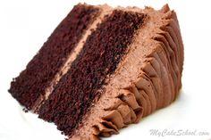 Classic Chocolate Cake~Scratch Recipe | My Cake School
