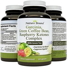 Tri-Blend - Pure Garcinia Cambogia HCA, Green Coffee Bean and Raspberry Ketones Complex- By Nature Bound