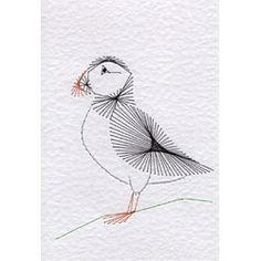 Birds/animals in Animals and Birds e-patterns at Stitching Cards - ePatterns for paper embroidery String Art Patterns, Bird Patterns, Embroidery Cards, Hand Embroidery, Iris Folding Pattern, Sewing Cards, Little Stitch, Paper Butterflies, Cross Stitch Cards