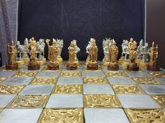 Light and Dark Pewter Fantasy Chess Set от thecastingshop на Etsy