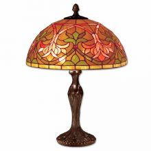 » Coloured Antique French Tiffany Lamp