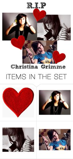 """""""R.I.P Christina Grimme"""" by gracet-broadway-baby1 ❤ liked on Polyvore featuring art"""