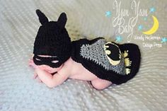Batman Crochet Outfit, Bat Baby Set, Superhero, Photography Prop, Costume, Cape, Hat, Mask, Newborn Prop, Baby Boy, Baby Girl, Halloween on Etsy, $35.00