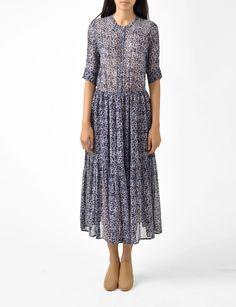 majorelle floral georgette dress