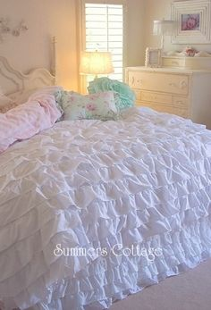 dreamy white ruffles - summers at the cottage