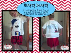 Humpty Dumpty Costume for Nursery Rhyme Day at Preschool Nursery Rhymes Kindergarten, Rhyming Kindergarten, Preschool Letters, Preschool Activities, Story Book Costumes, Boy Costumes, Nursery Rhyme Costume, Nursery Ryhmes, Nursery Rhyme Characters