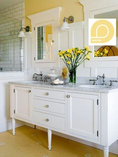 Loop Butter in a bathroom remodel #decor #homedecor #remodel #DIY #quality #eco #recycled #paint #recycledpaint Find Loop Paint at Walmart's across Canada.