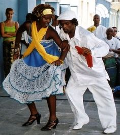 The Afro-Cuban dances all share the instrumentation of three conga drums, or cajones, claves, palitos, and/or guagua, lead singer and coro. Optionally, checkeré and cowbells. The heavy polyrhythms ...