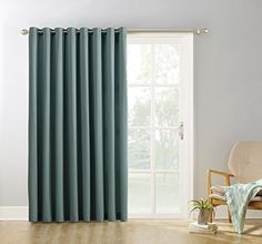Bring a casual modern style to your patio doors by choosing this Sun Zero Gavin Extra Wide Blackout Patio Panel in Barley. Glass Door Curtains, Patio Door Curtains, Panel Curtains, Valance, Window Drapes, Blackout Curtains, Sliding Patio Doors, Sliding Glass Door, Glass Doors