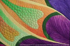Bradford Fantasy; Detail.  The amazing quilting of Carol Bryer Fallert-Gentry.