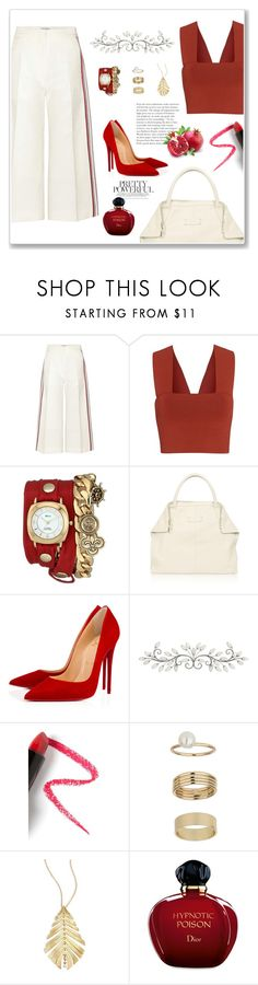 """~ louboutin ~"" by rhiannonjadebrown ❤ liked on Polyvore featuring Hillier Bartley, A.L.C., La Mer, Alexander McQueen, Christian Louboutin, Lapcos, Miss Selfridge, Hueb and Christian Dior"