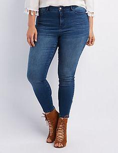 "Plus Size Refuge ""Hi-Rise Skinny"" Jeans"